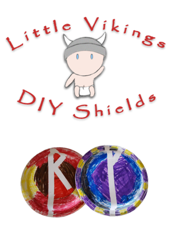 Little Vikings DIY Paper Plate Viking Shield | Norse and