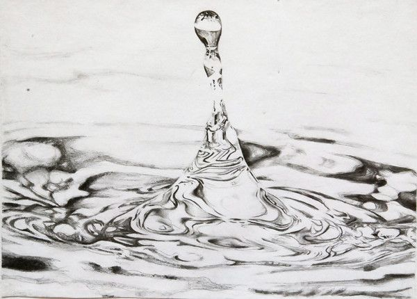 Water Drop Pencil Drawing | Water | Pinterest | Water ...