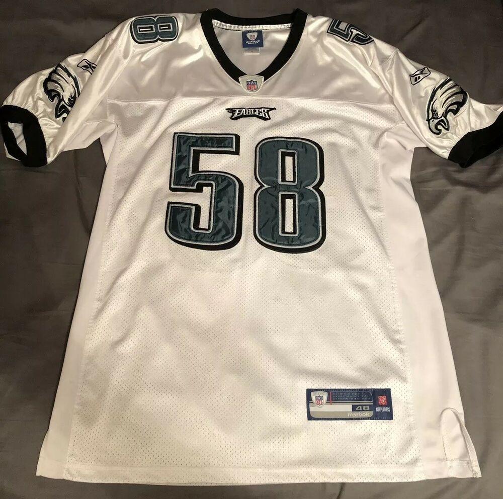 buy popular de993 a8952 Philadelphia Eagles Trent Cole Jersey #58 Reebok On Field ...