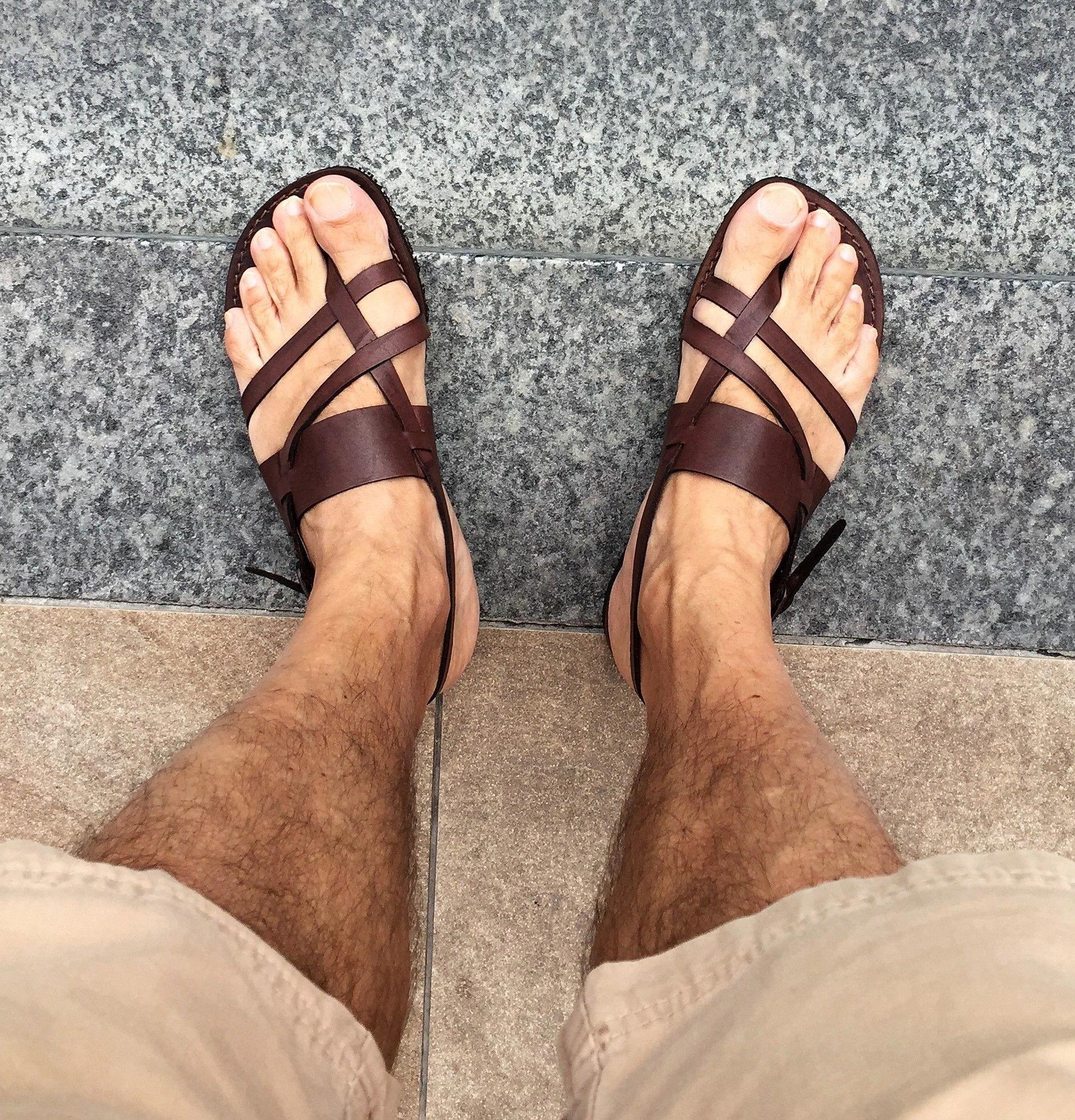 Mens Sandals Black And Yellow Mens