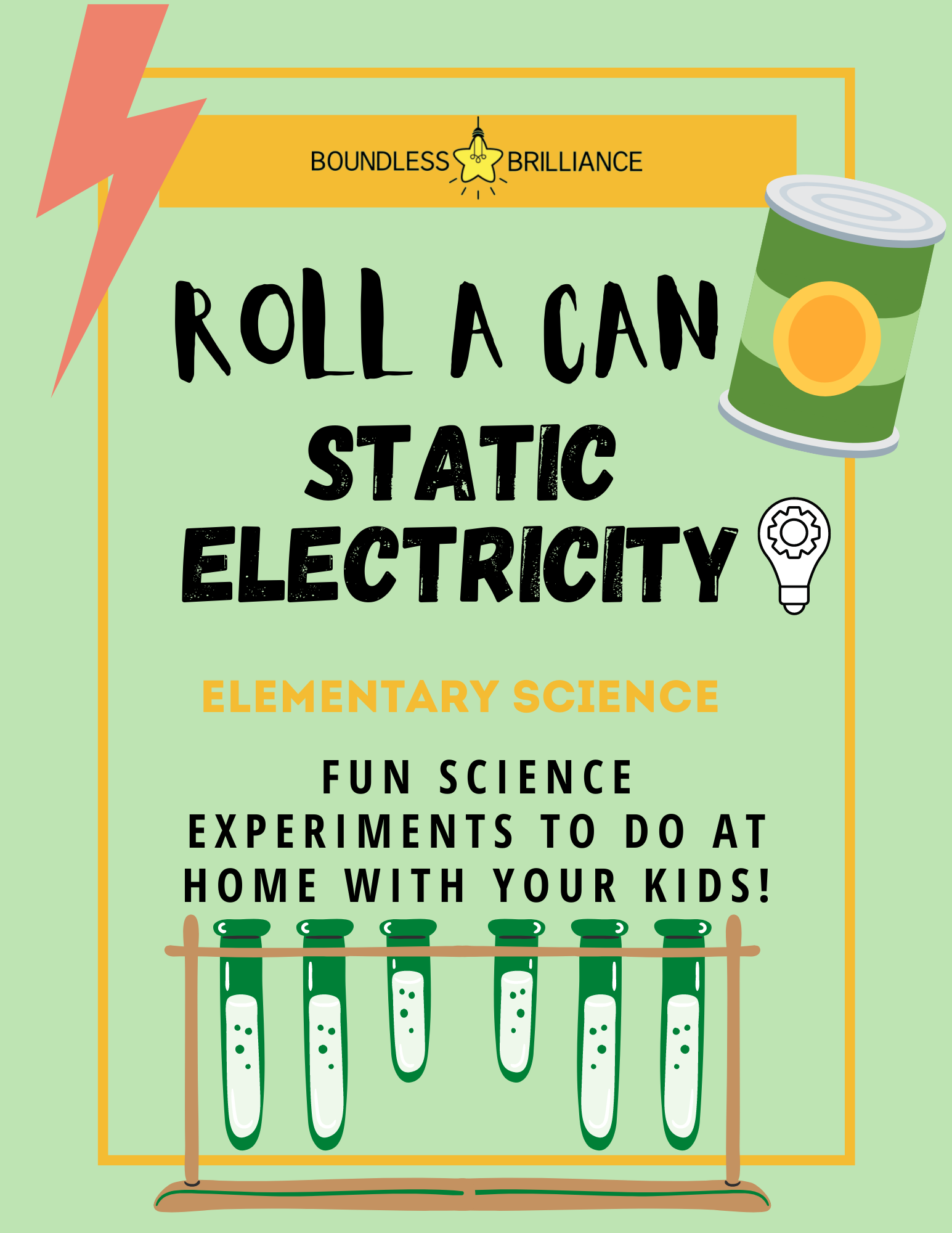 Roll A Can With Static Electricity Diy At Home Experiment