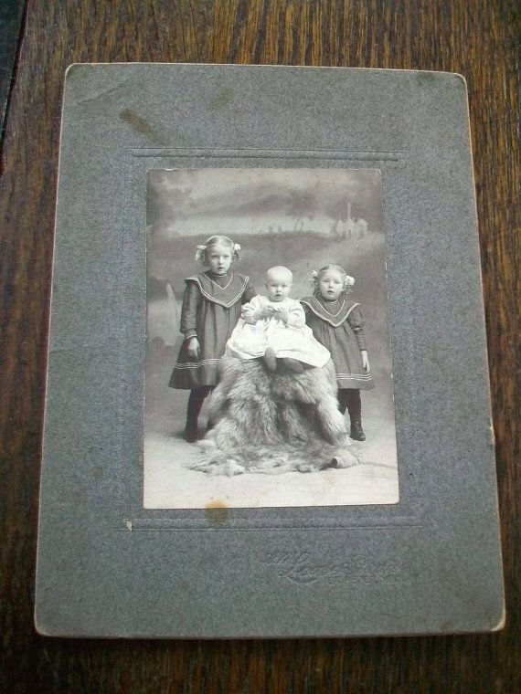 Vintage Cabinet Card Photograph 1800s by RedRiverAntiques on Etsy, $7.95
