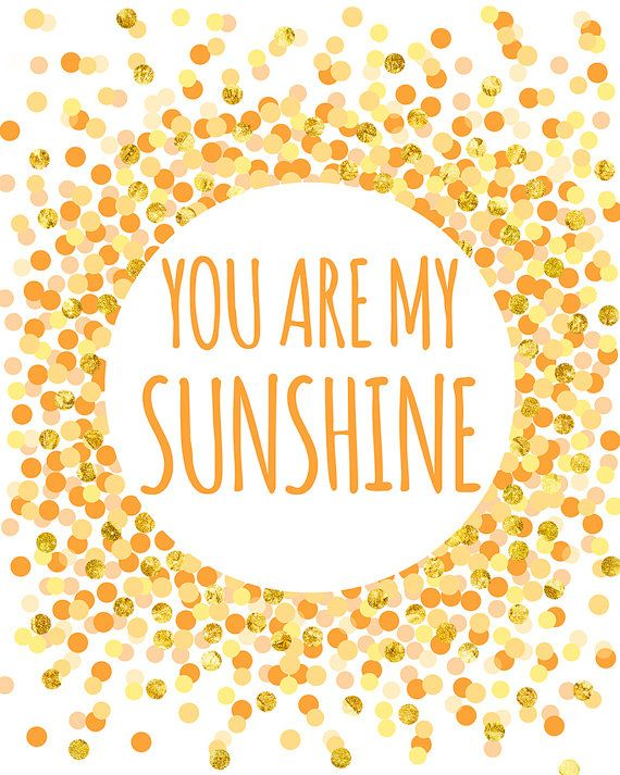 You Are My Sunshine Print Nursery Printable Art Kids Wall Art Yellow