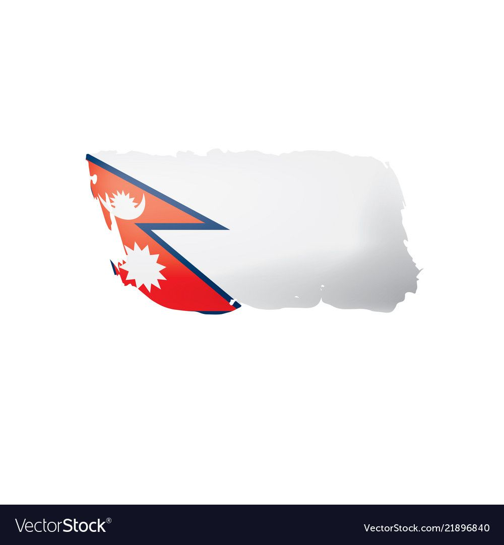 Nepal Flag On A White Royalty Free Vector Image Ad White Flag Nepal Royalty Ad Vector Free Nepal Flag Free Vector Images