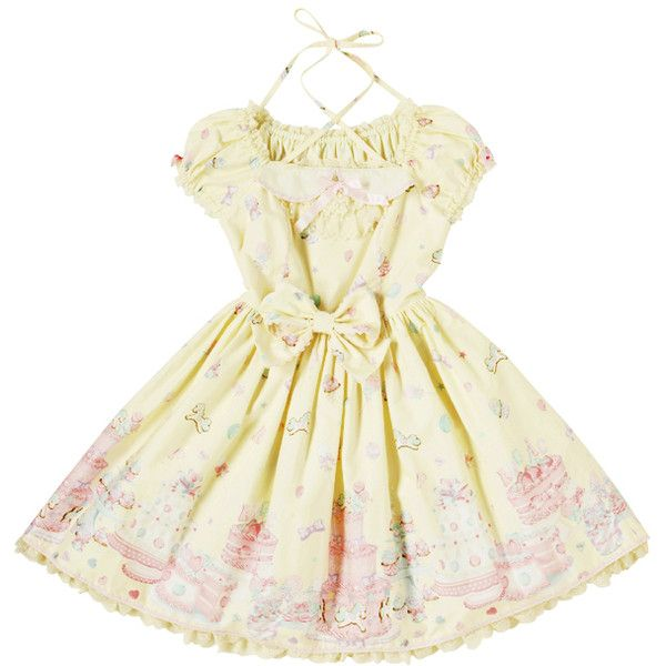 Big Images   KERA SHOP [Kera! Shop] ❤ liked on Polyvore featuring dresses, lolita, angelic pretty, kawaii and beige dress