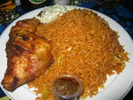 Ghanaian jollof rice with chicken photography that i for Authentic african cuisine from ghana