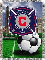Chicago Fire 48x60 Mls Tapestry Throw Without The