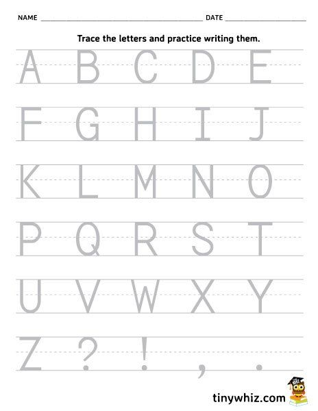 Free Printable Worksheet Trace And Write The Alphabet Capital Letters Ejercicios Para Preescolar Ejercicios Para Ninos Libros De Preescolar Kindergarten capital letters worksheet