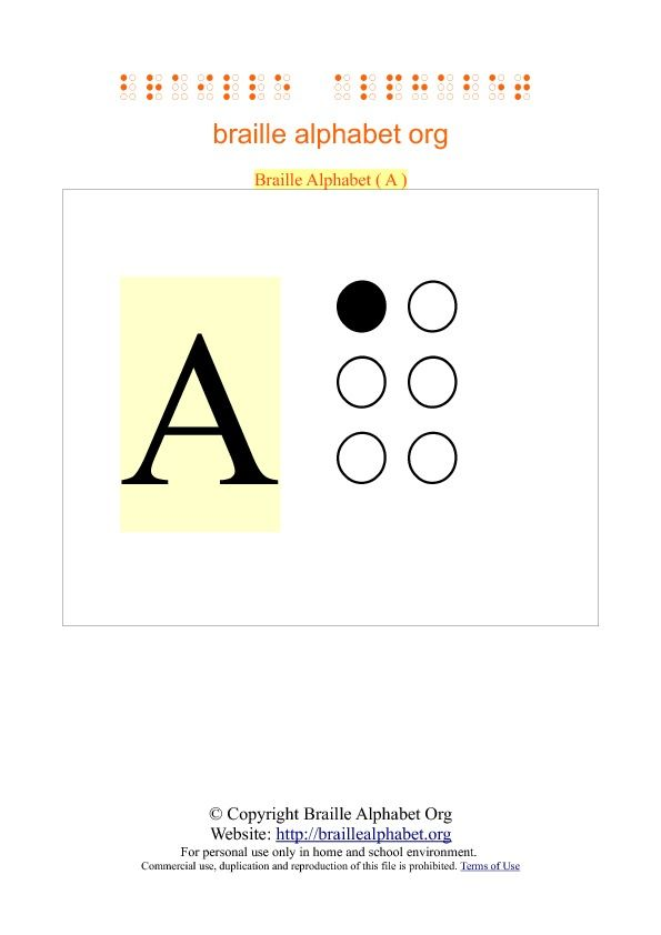photograph about Printable Braille Alphabet known as Braille Flashcards - Printable PDF Artwork - Adaptive Resources