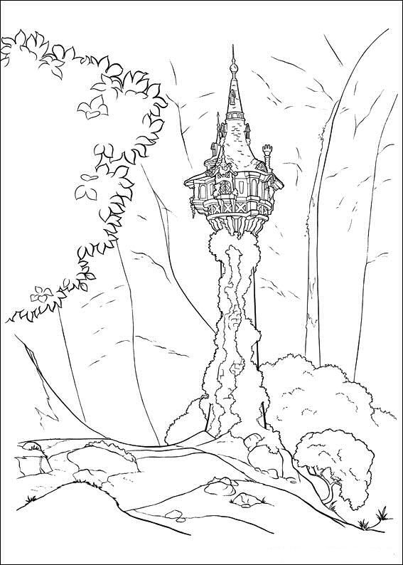 Ausmalbild Rapunzel Kids N Fun Disney Coloring