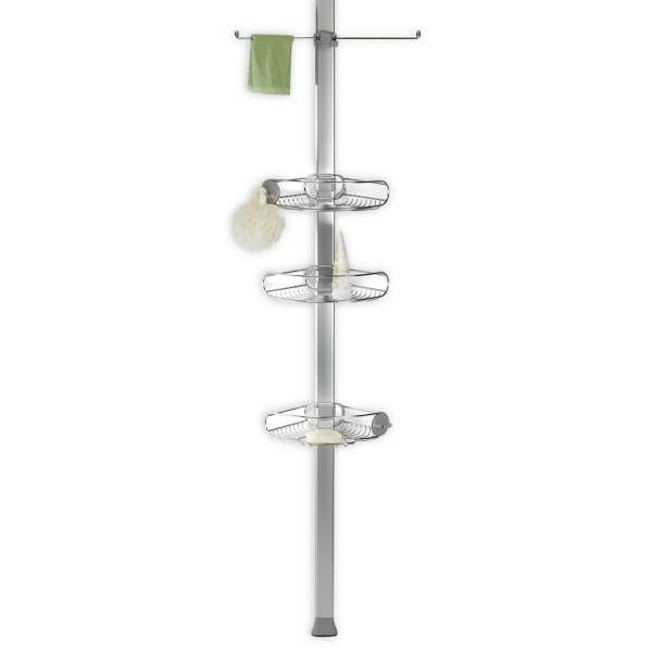 Product Image for simplehuman® Stainless Steel Tension Shower Caddy ...