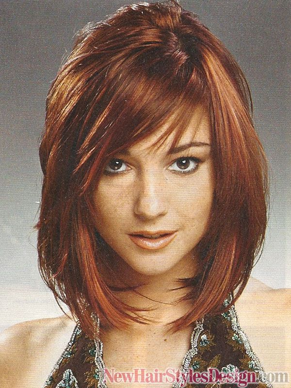 Here Is A Short Haircut In The Shape Of A Half Moon Layered Bob - Hairstyles for short hair layered