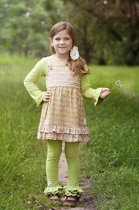 Simply Terrific Tee Granny Apple Green Ruffle Jumper Top