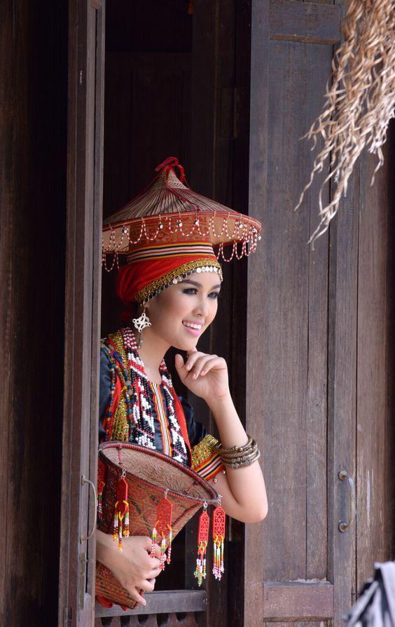 Traditional Dress In Sarawak Malaysia Sarawak Is One Of The Two
