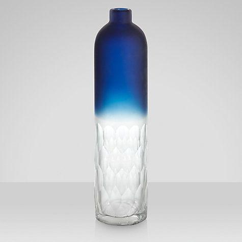 Buy John Lewis Cut Glass Vase Blue Clear Online At Johnlewis