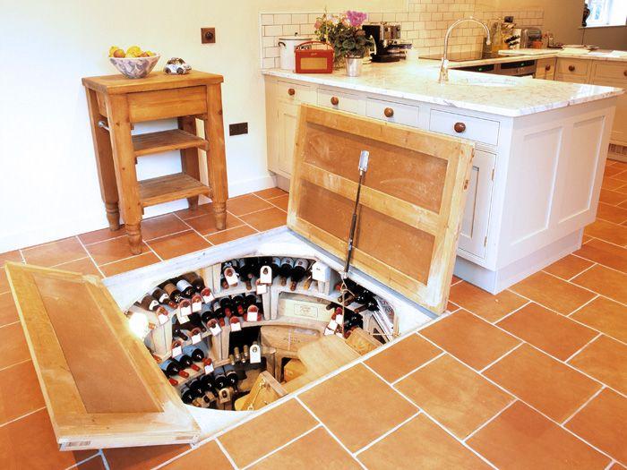 underfloor wine storage. | a girl can dream.. | pinterest