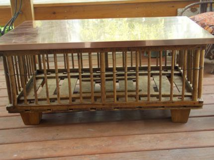 Repurposed Chicken Crate Turned Trendy Coffee Table Crate Coffee