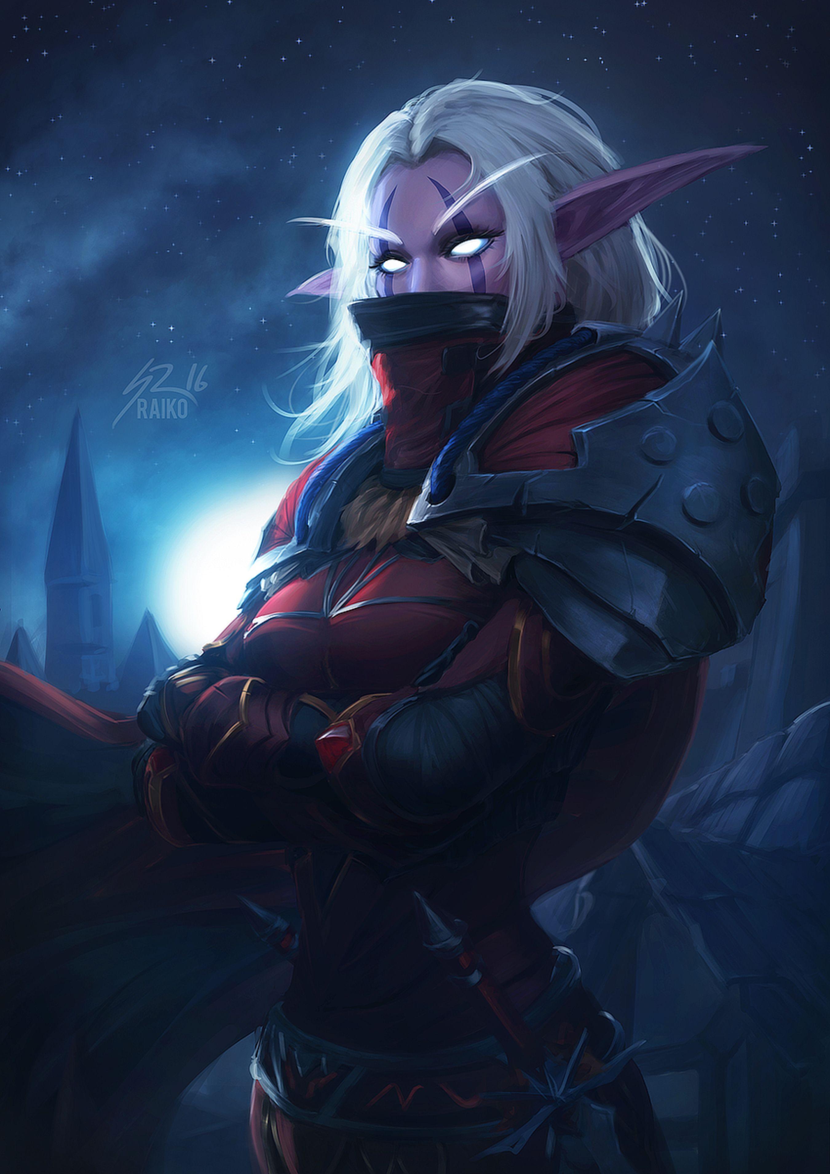 Kaliane Andurome By Raikoart On Deviantart Warcraft Characters