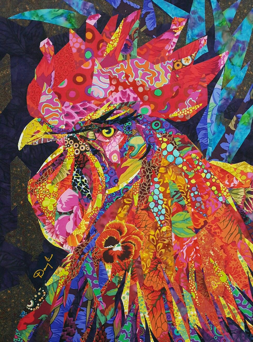 rainbow cock-a-doodle-doo | Quilts | Pinterest | Bunt und Malen