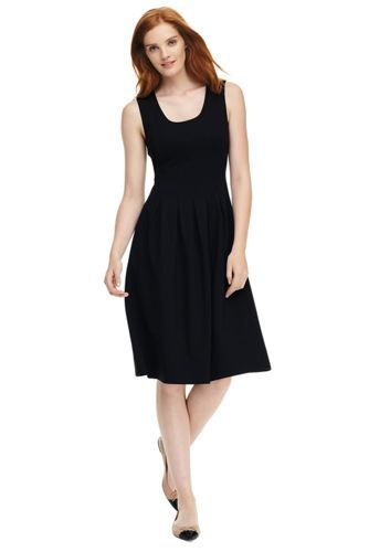 Womens Ruched Bodice Jersey Dress - 10 -12 - BLACK Lands End UBcfBA
