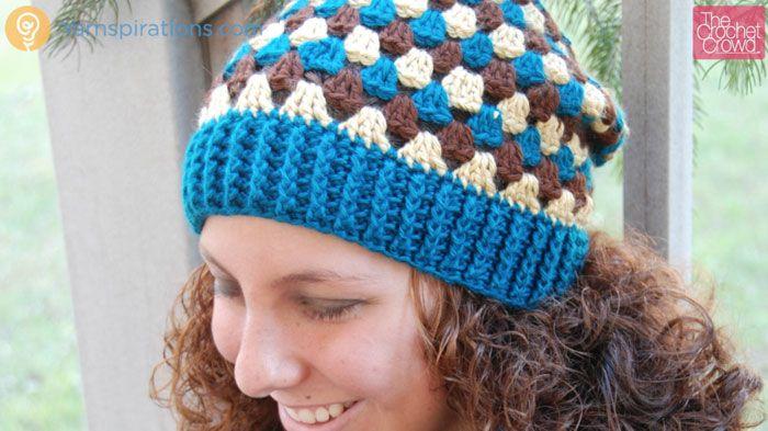 Crochet Granny Stripes Hat Tutorial Pinterest Crochet Granny