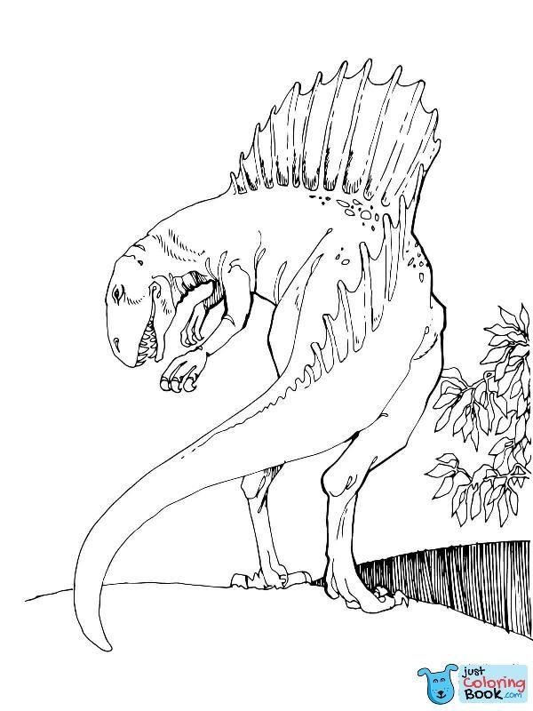 Spinosaurus Coloring Pages Free Coloring Pages Regarding Spinosaur Hunting Coloring Pages Halaman Mewarnai