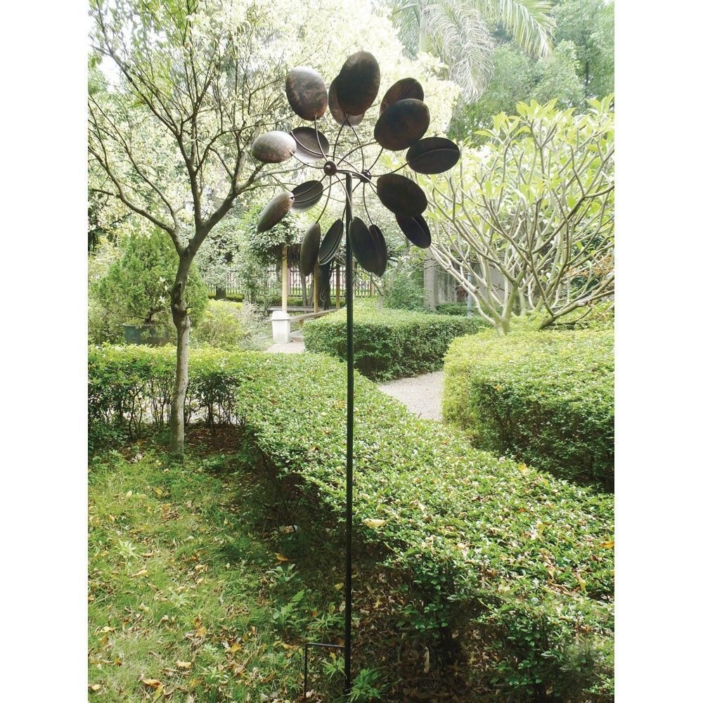 Large Spoon Garden Windmills Yard Outdoor Lawn Spinner Wind Home Metal  Rotatingu2026