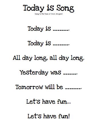Have Fun Teaching Days Of The Week Song : teaching, Delightful, Learning:, Calender, Morning, Board, {Routine!}, Classroom, Songs,, Kindergarten, Preschool, Songs
