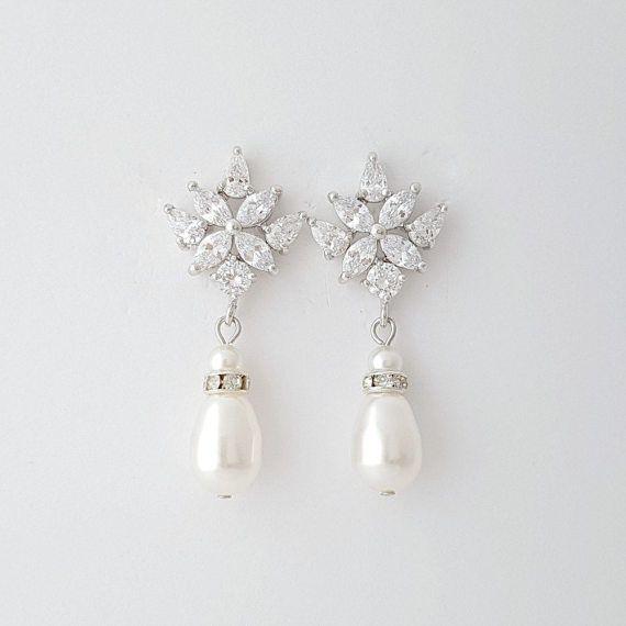 crystal braut ohrringe perle tropfen hochzeit ohrringe. Black Bedroom Furniture Sets. Home Design Ideas