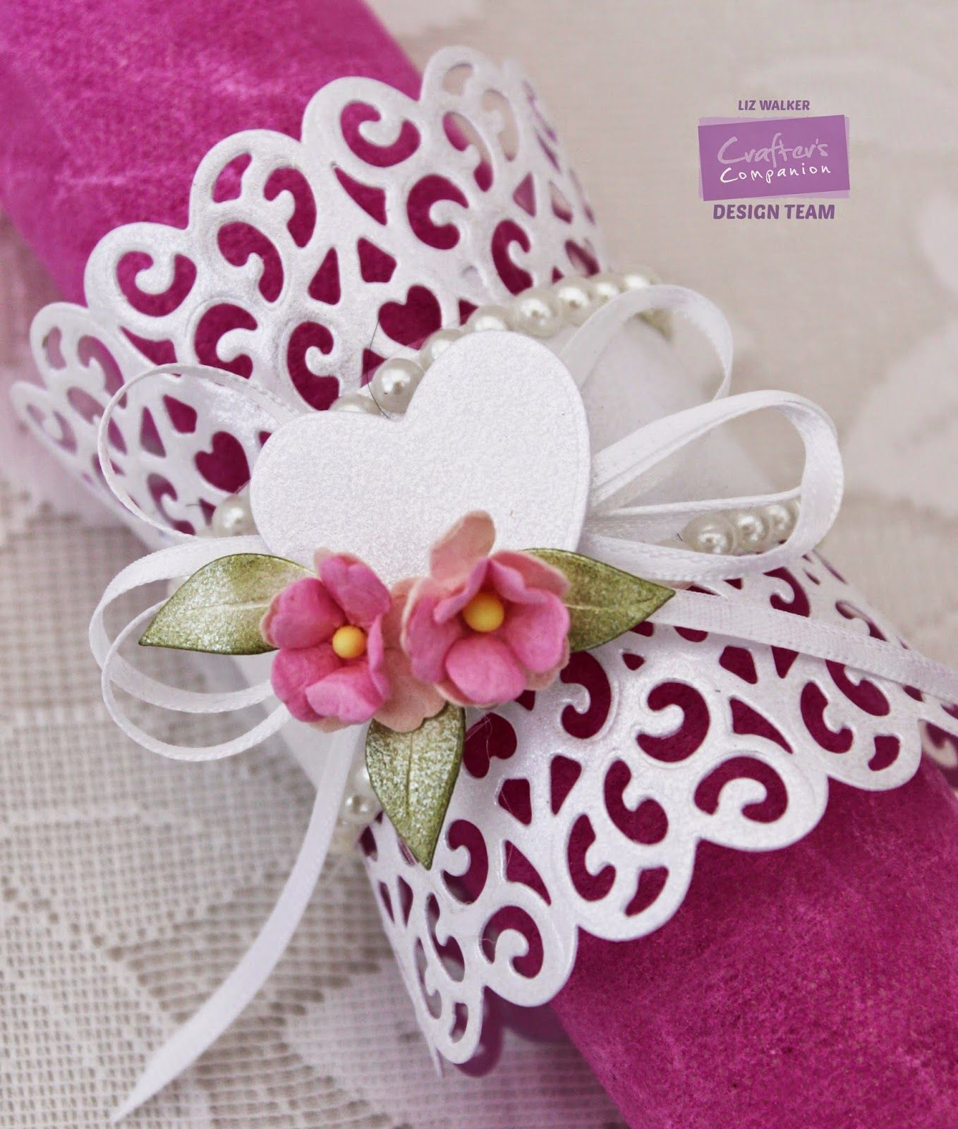 Make a napkin ring TUTORIAL (Verity Cards) #napkinrings