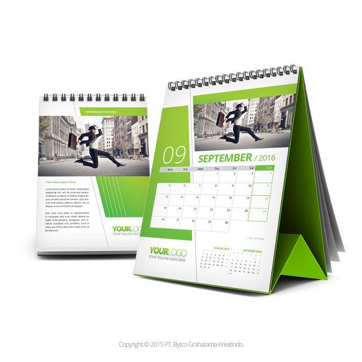 Green Desk Calendar 2016 Tempro Desk Calendar Design Calendar Design Desk Calendars
