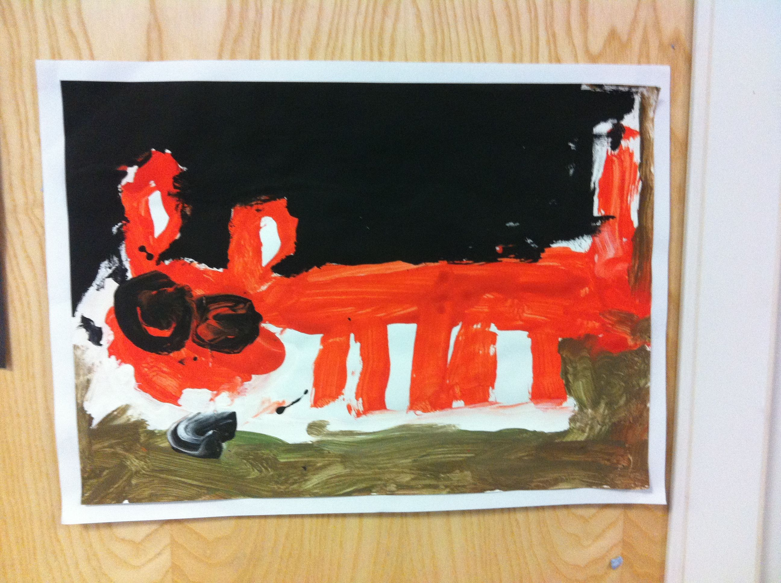 Fox Painting For Nocturnal Animals By Reception Child