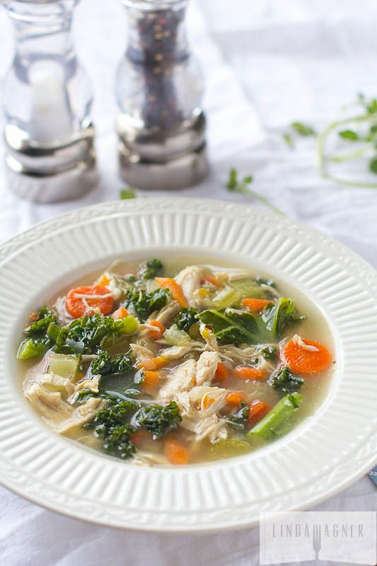 Easy vegetable soup with bone broth
