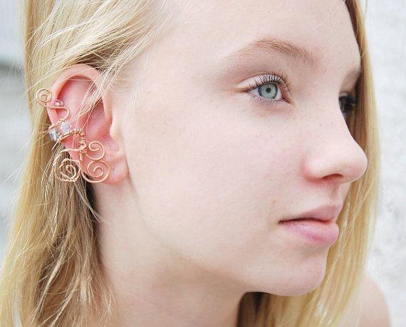Lothlorian Ear Cuffs - fantasy jewelry fairy fairies  #lotr #fantasyjewelry #fantasy #handmade #fairies #earcuffs #jewelry