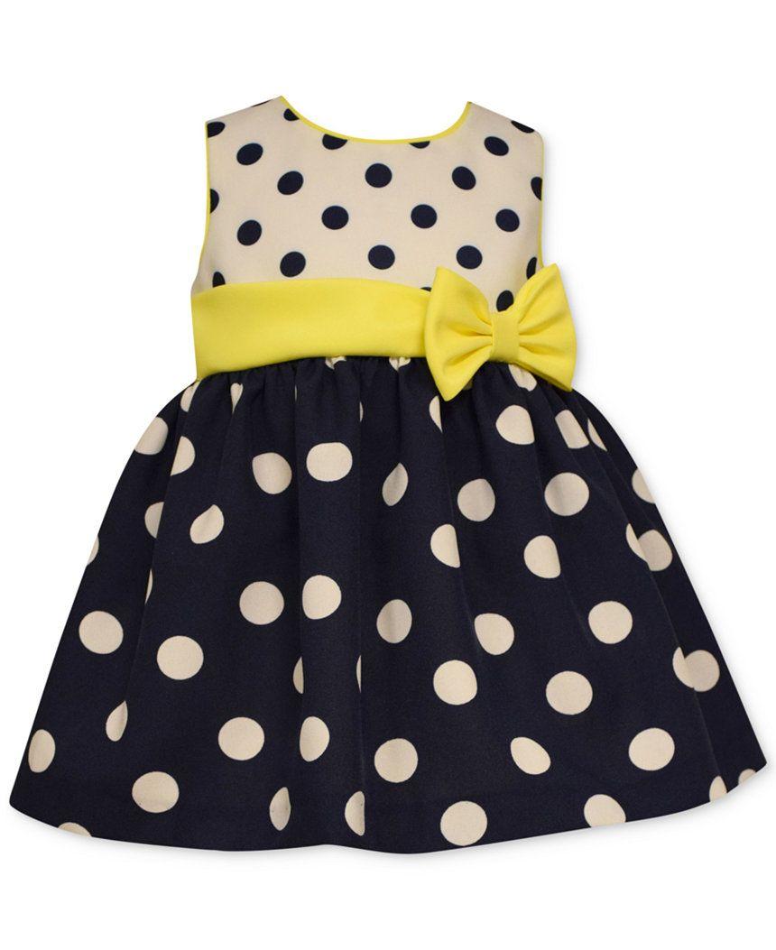 Bonnie Baby Girls' Dot Poplin Party Dress - Kids