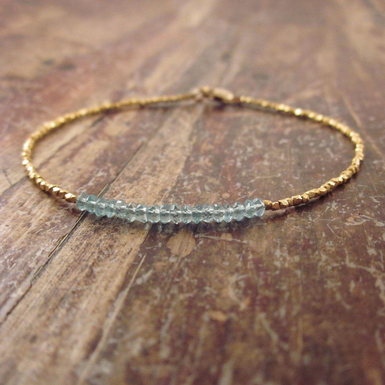 Blue apatite bracelet something blue bracelet womens bracelet gold