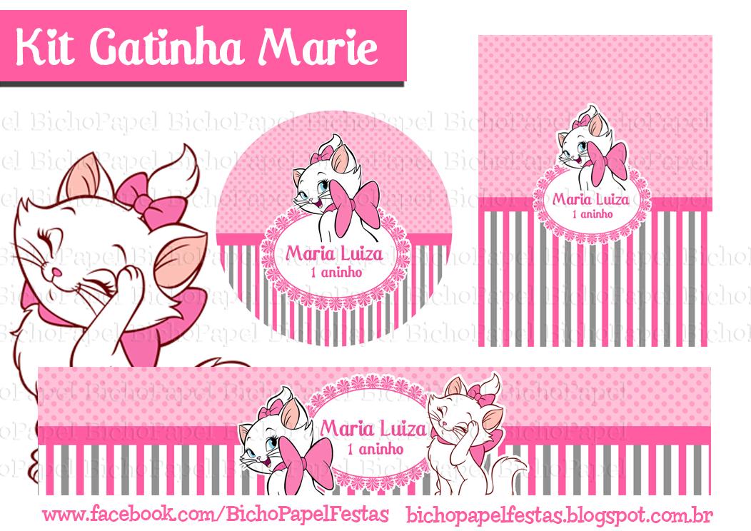 Kit Gata Marie | Gata marie | Pinterest | Kit festa, Festa ...