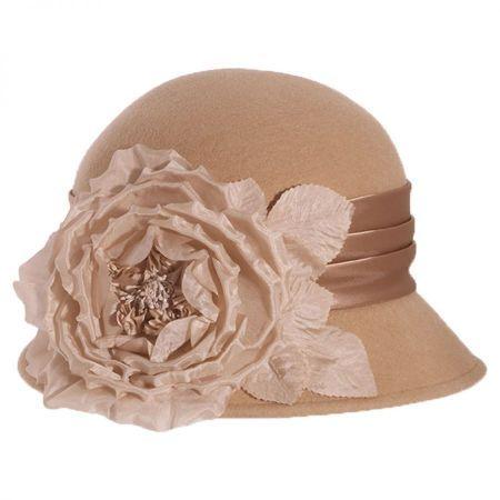 Side Rose Wool Felt Cloche Hat  fc66216edee