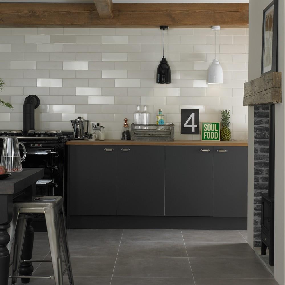 38 Fine Tiles Decor Grey Kitchen Walls Brick Effect Wallpaper