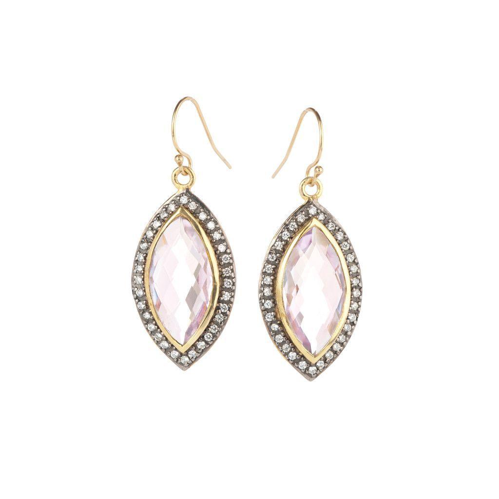 NuNu Designs Marquis Shaped Earrings w/ CZ's