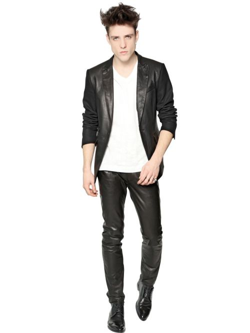 7fb725a6 Leather Crew | Leather & Jeans in 2019 | Leather jeans, Leather ...