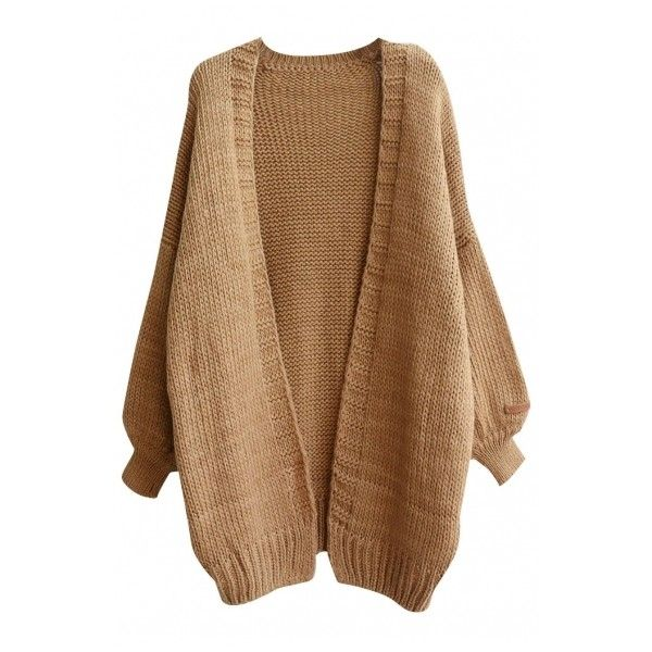 Open Front Loose Sleeve Open Front Cardigan ($37) ❤ liked on ...