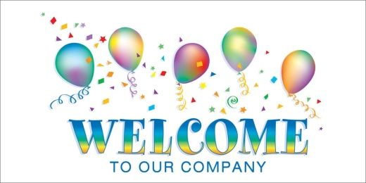 Festive Balloons Welcome Card Welcoming New Employees Welcome
