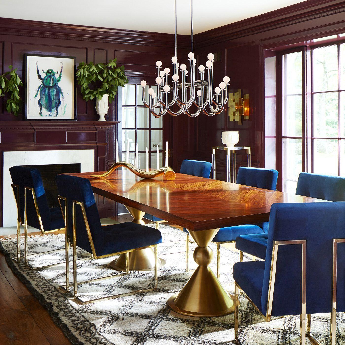 Designer Dining Table By Jonathan Adler Contemporary Dining Table Dining Table Design With Images Modern Dining Room Dining Room Design Modern Dining Room Contemporary