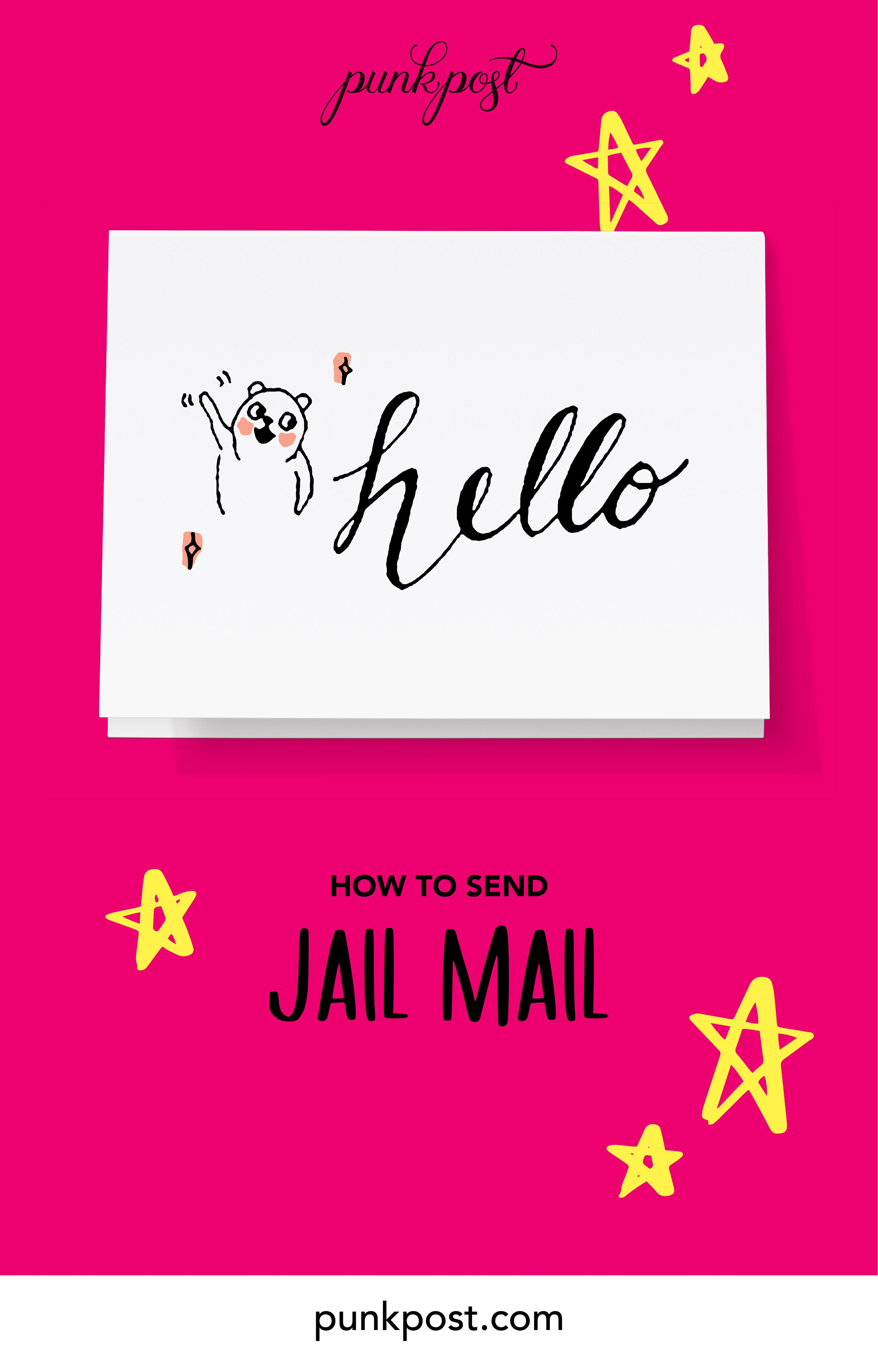 How to send jail mail pen pal letters send a card
