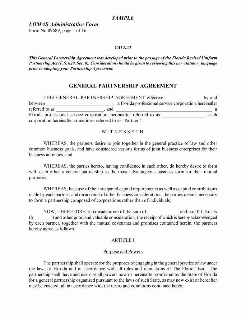 Business Partnership Agreement Template Lovely Agreement Word Templates Free Word Templa General Partnership Separation Agreement Template Separation Agreement