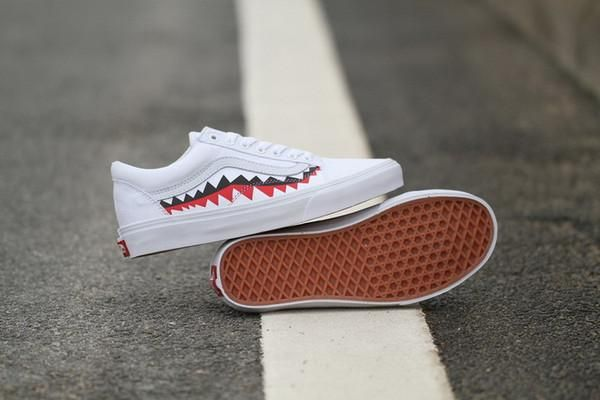 a057766dfc Vans X Bape Sharktooth Custom Sneakers for Men   Women Factory Sale -  Hamarini2