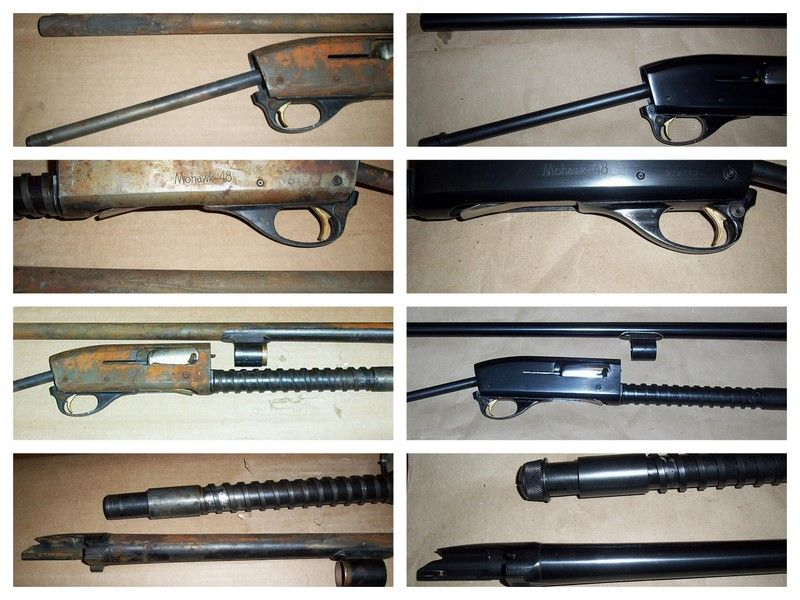 Some general before and after pictures of gun bluing