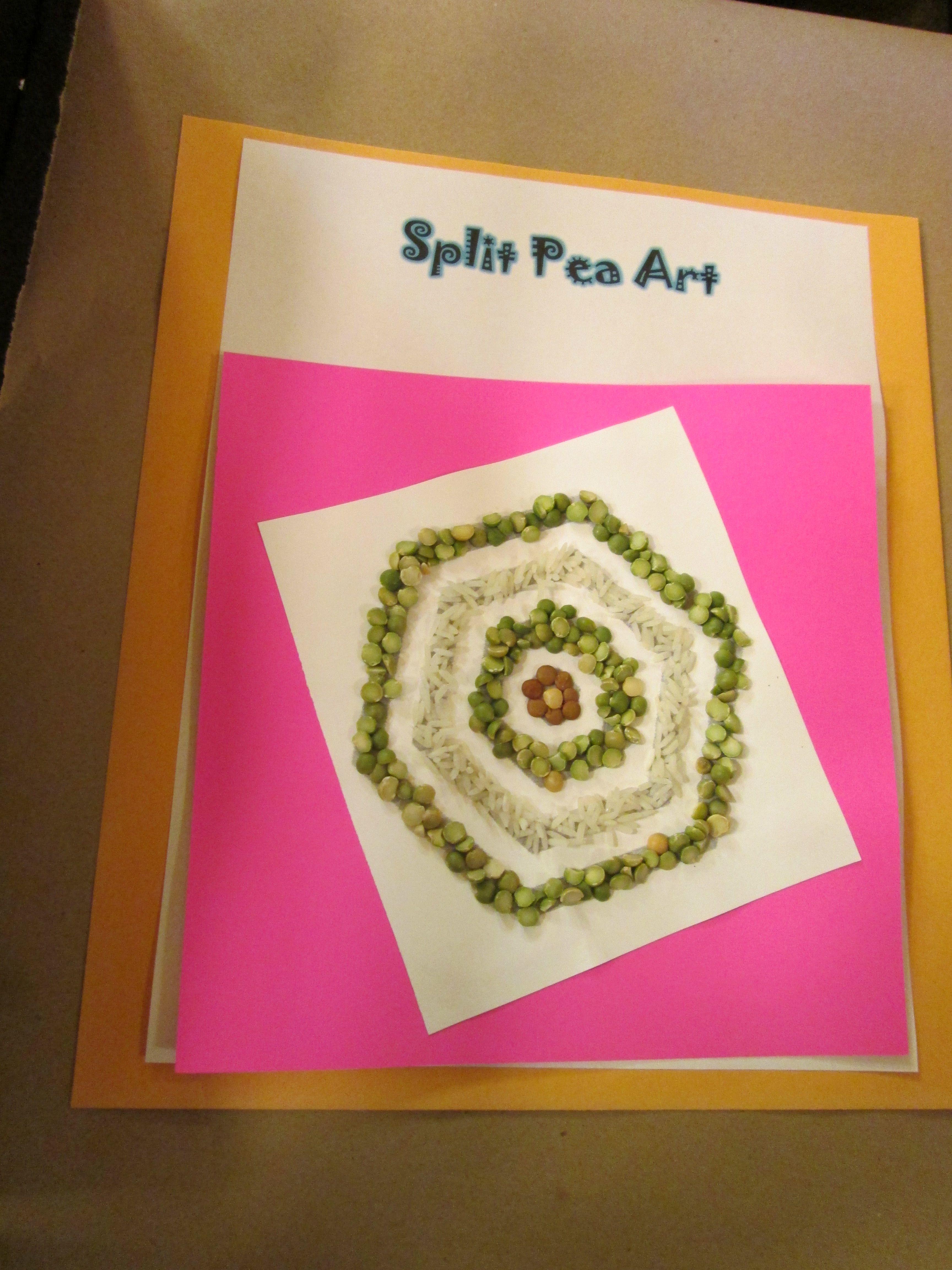 Split Pea Art--2016 CSLP Manual. Craft created by Margaret ...