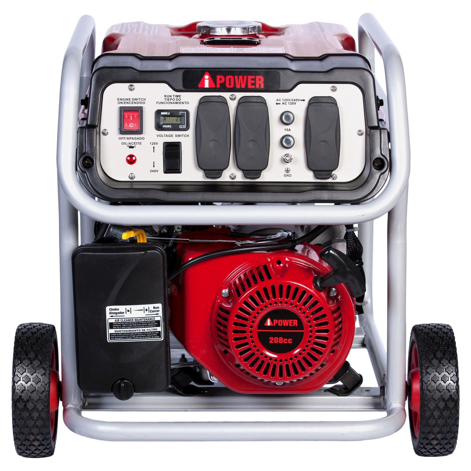 4500 Watt Gasoline Powered Portable Generator Manual Start A